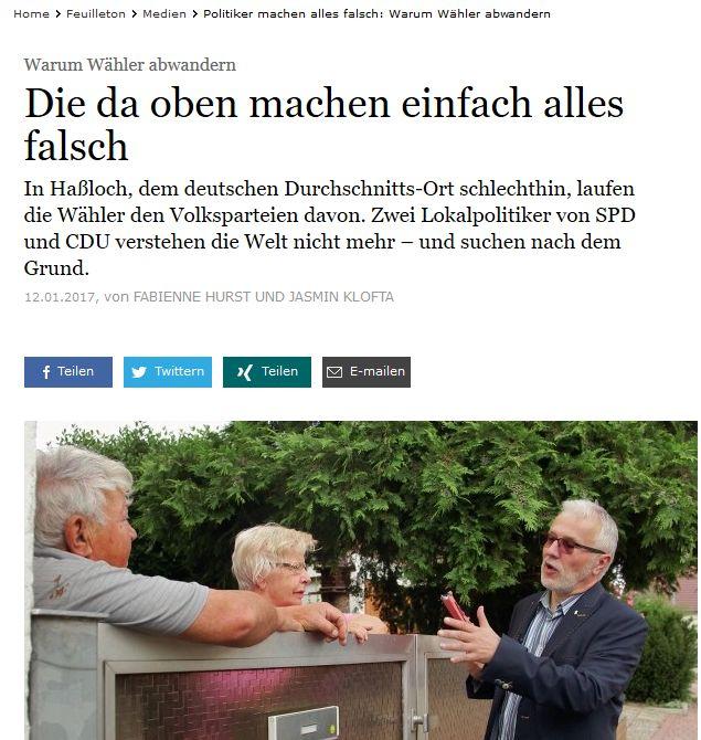 FAZ-Durchschnittsdeutsche laufen den Volksparteien davon